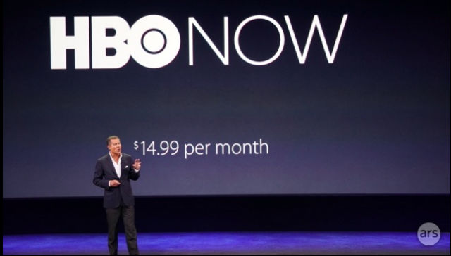 """HBO Now"" coming this spring for $15 per month, with Apple as launch partner"