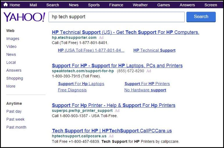 Why you should never Google tech-support numbers Need help from HP? Or Dell? Or just about any other computer or device maker? Don't fall into this trap.