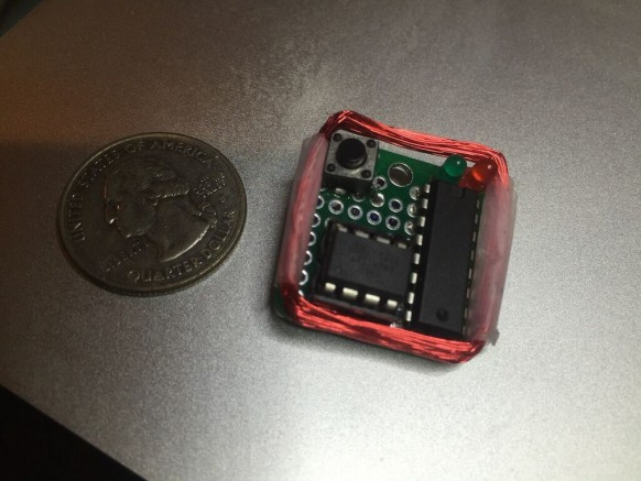 The $10 MagSpoof device that implements Samy Kamkar's American Express card number prediction attack.