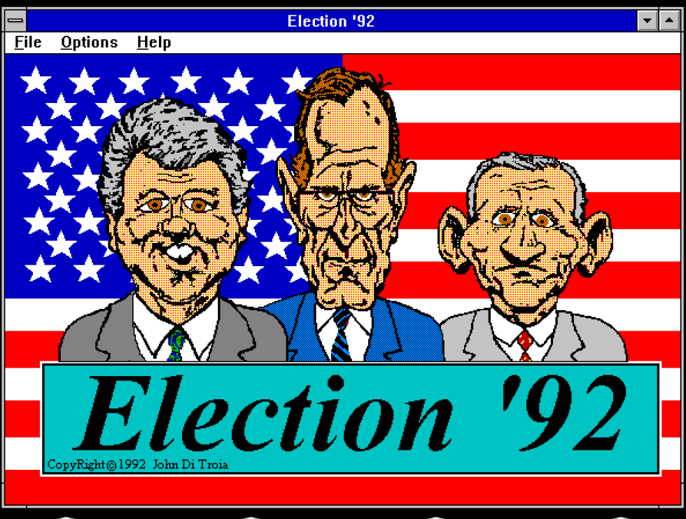 Back to the '90s. This simple arcade game makes you throw pies at each of the major 1992 American presidential candidates.