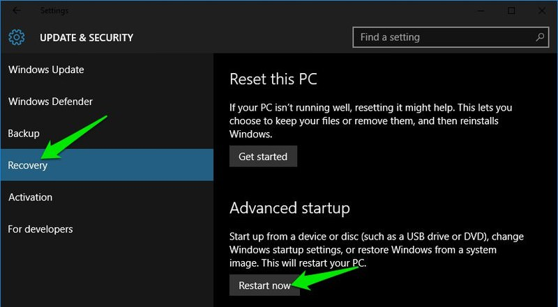 5 Ways to Access Windows 10 Boot Options Menu | River Net