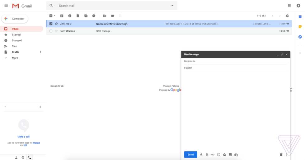 Gmail.com redesign leaks, looks pretty incredible